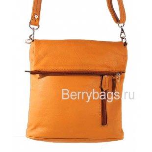 Женская плечевая сумка D-05 -Glazy Cognac