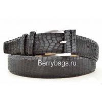 Ремень женский джинсовый кожаный рептилия DKN120011