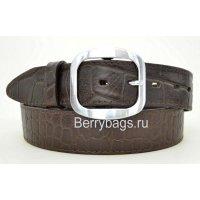 Ремень женский джинсовый коричневый  DKN 120015