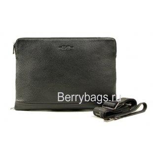Папка-сумка мужская кожаная H.T 15153 Black