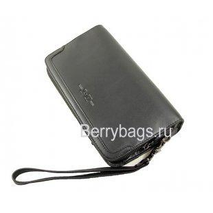 Клатч-барсетка из натуральной кожи Hight Touch 112233 Black Prestige