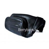 Мужская кожаная сумка на пояс для денег и документов Hight Touch 117503 Neo-Sport