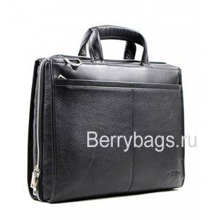 Сумка мужская для ноутбука и документов с ремнем через плечо Hight Touch 15167 Black