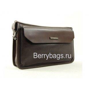 Барсетка-кошелек мужской кожаный Hight Touch 15177 Brown