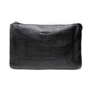 Мужская барсетка черная мягкая кожа Hight Touch 5011-30