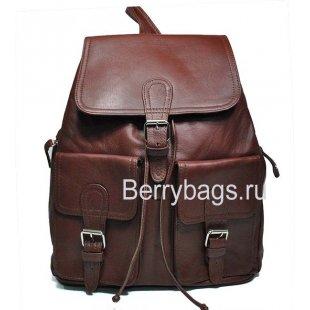 Рюкзак кожаный бордовый Iron 569335-Genesis