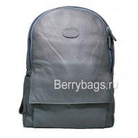 Рюкзак городской кожаный серо-голубой Jerby 569376 Jery