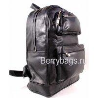 Рюкзак большой кожаный мужской черный L 031041 -Gutzmann