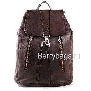 Стильный кожаный рюкзак коричневый L 39265 - Vaal