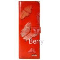 Визитница женская красная Lison Kaoberg 151012 Butterfly