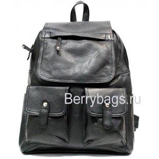 Рюкзак Urbant кожаный черный MF16255