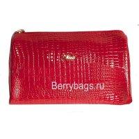 Косметичка кожаная женская MORO 1195 Red