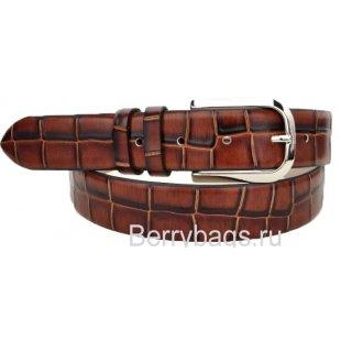 Ремень брючный кожаный Adriano Ferroro N-7600-Dragon
