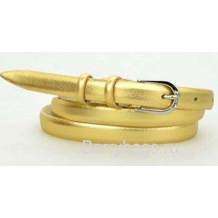 Женский ремень на пояс узкий OPS 12642 - Golden