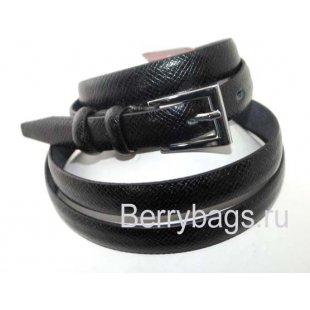 Кожаный женский ремень для платья OPS 12670 -Black