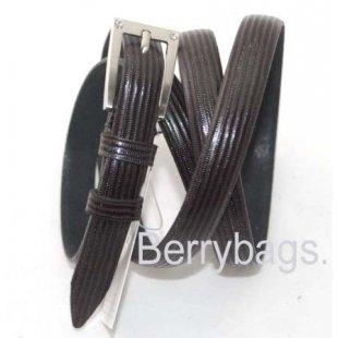 Женский узкий ремень OPS 12672 -Dark brown