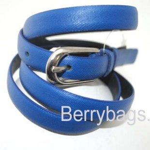 Женский ремень узкий OPS 12677 -Blue Pearl