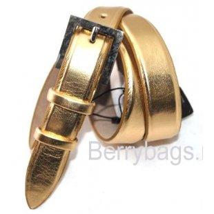 Женский ремень брючный золото OPS 12718 - Golden