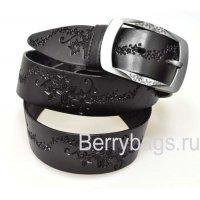 Женский ремень джинсовый OPS 12733 - Black star