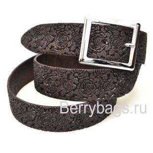 Женский ремень джинсовый OPS 12751 - Chocolate rose
