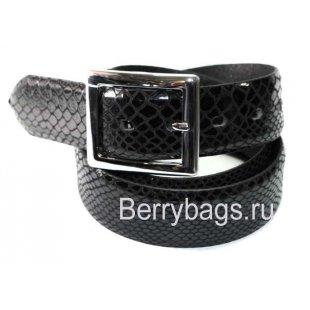 Женский ремень джинсовый OPS 12761 - Black Snake