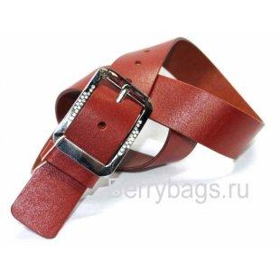 Женский ремень джинсовый красный OPS 12772 -Page