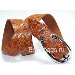 Женский ремень джинсовый широкий OPS 12774 -Bell