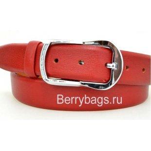 Женский ремень для брюк OPS 12788 - Strawberry Red