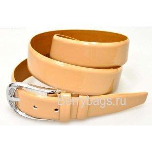 Женский ремень для брюк OPS 12795 - Peach Silver