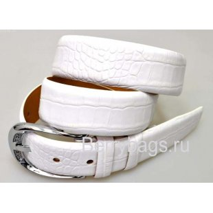 Женский ремень для брюк OPS 12811 - Iguana White