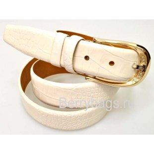 Женский ремень для брюк OPS 12813 - Iguana White G