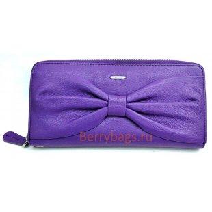 Фиолетовый кожаный кошелек на молнии Passion 2403 -Lolla