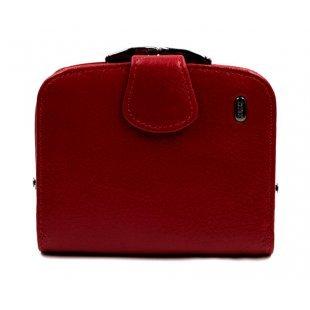 Женский кошелек кожаный красный Petek 21259 -Mini