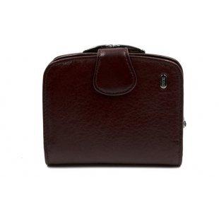 Женский кошелек кожаный красно-коричневый Petek 21260-Mini