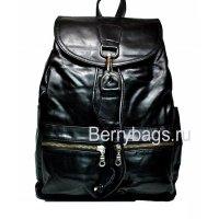 Рюкзак городской кожаный черный RAW 569359 Black