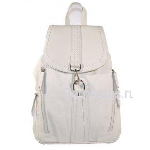 Кожаный городской рюкзак белый Ritmer Z 14808 Whitey