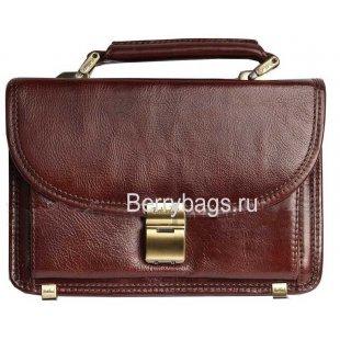 Барсетка классическая коричневая Rockfeld 024590