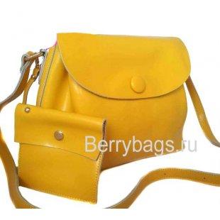 Женская сумка через плечо желтая Yoko 3926589 -yellow