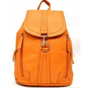 Кожаный рюкзак Z 148-007-ORANGE LEATHER
