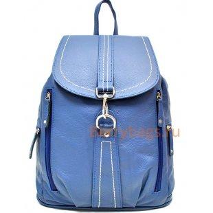 Кожаный рюкзак Z 148-06-BLUE SKY