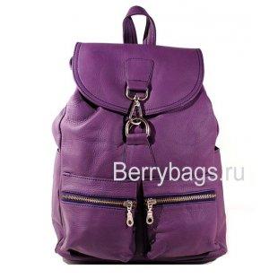 Рюкзак кожаный городского типа Z 45-02 -Purple