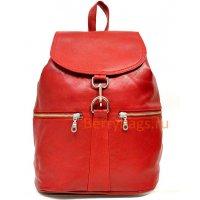 Кожаный рюкзак городского типа Z 59-12-REDBERRY