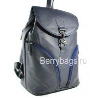 Рюкзак кожаный городской Z-2203 - Blue Drop