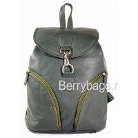 Городской кожаный рюкзак зеленый Z-2203 -Grün