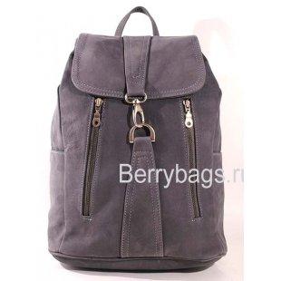Рюкзак кожаный  Z-24-01 Blue Gray