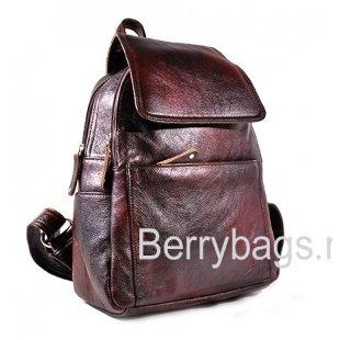 Рюкзак кожаный Z-4113 Лавовый коралл