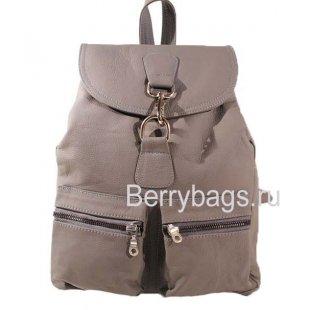 Рюкзак городской кожаный Z45 - Grey