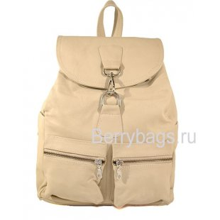 Рюкзак кожаный городской бежевый Z4515 - Beige