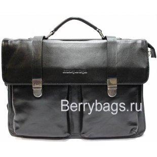 Портфель классический кожаный Zegnai 015254 -Rallentando black