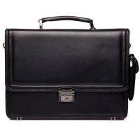 Портфель мужской черный кожаный AB 117992-Avranches